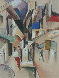 5128: Albert Gleizes French, 1881-1953 SCENE DE VILLAGE