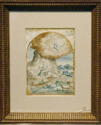 6002: Italian School 18th Century STORY OF NOAH Inscrib