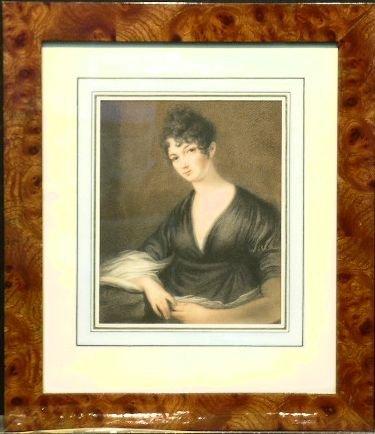 6005: Continental School PORTRAIT OF A WOMAN IN BLACK C