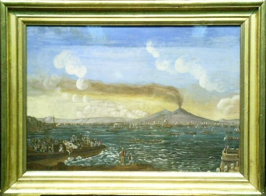 6006: Neapolitan School 19th Century BAY OF NAPLES   Wa