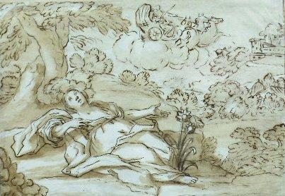 6008: Italian School 18th Century APOLLO AND CORONIS (?