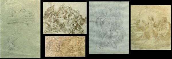 6011: Group of Five Old Master Drawings