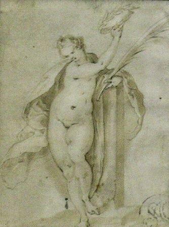 6012: Lucas Killian German, 1579-1637 ALLEGORICAL FIGUR