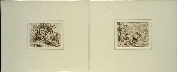 6013: Franz Kobell German, 1744-1822 LANDSCAPES: TWO Br
