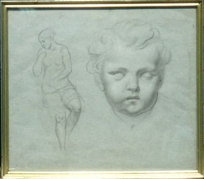 6015: French School 19th Century STUDY OF A CHILD'S HEA