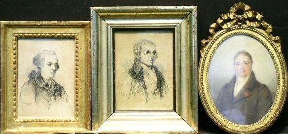 6019: British School 18th Century PORTRAIT DRAWINGS: TH
