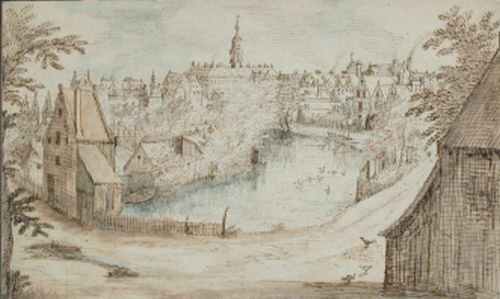 6021: Attributed to Jan Bruegel the Elder VIEW OF A CIT