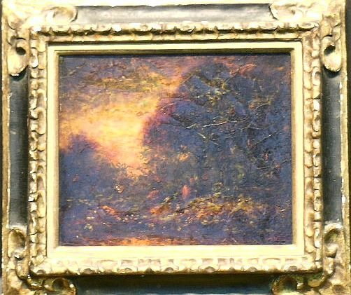 7: Ralph Albert Blakelock 1847-1919 STORMY SUNSET