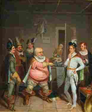 Attributed to Sanford Thayer SCENE FROM FALSTAFF