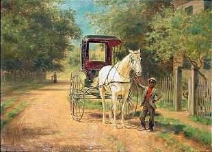 Edward Lamson Henry 1841-1919 THE COACH AWAITS