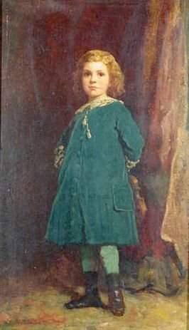 Eastman Johnson 1824-1906 PORTRAIT OF A YOUNG BOY,