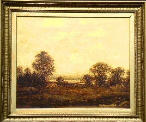 16: Ralph Albert Blakelock 1847-1919 INDIAN ENCAMPMENT