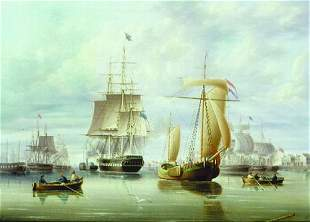 James Edward Buttersworth 1817-1894 SHIPPING IN A P