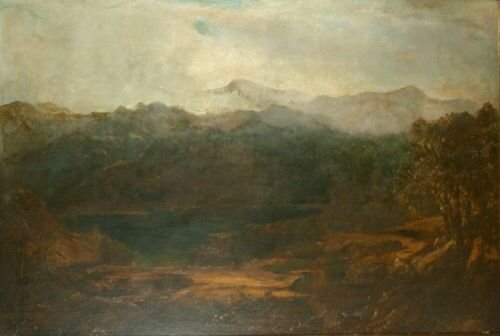 19: William Louis Sonntag 1822-1900 MIST IN THE MOUNTAI