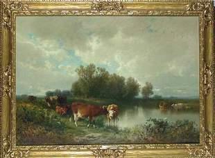 William Hart 1823-1894 CATTLE WATERING