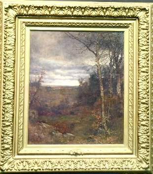 Jervis McEntee 1828-1891 THE APPROACHING STORM, EAR