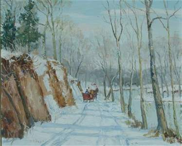 81: Walter Emerson Baum 1884-1956 WINTER, PERKIOMEN VAL