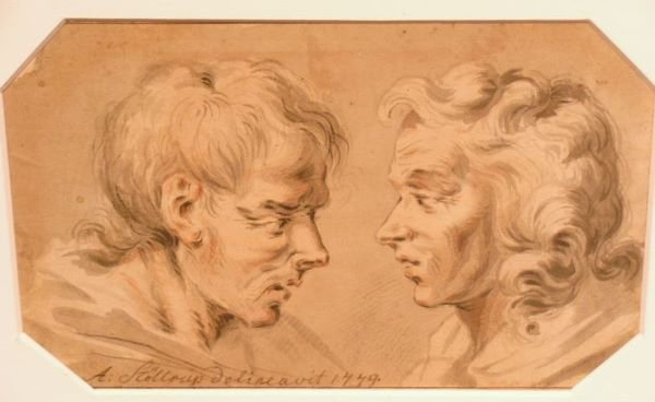 1006: A. Stollrup Danish, 18th century HEAD STUDIES