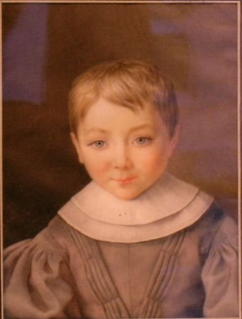1008: German School Circa 1840 PORTRAIT OF A YOUNG BOY