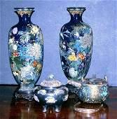 1235: Group of Four Japanese Enamel Items
