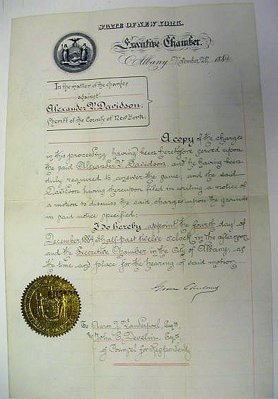 2003: CLEVELAND, GROVER Document signed