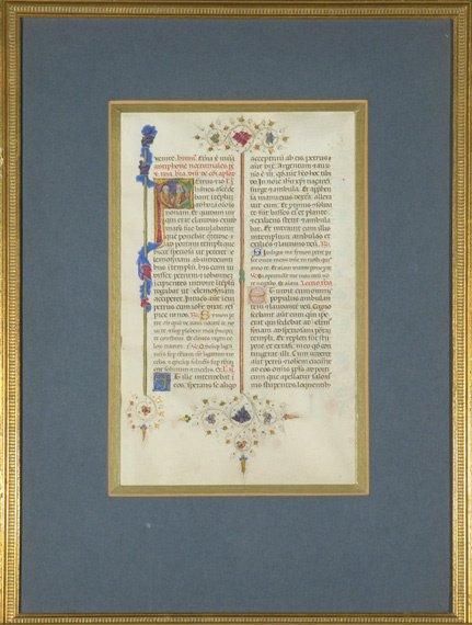 2007: [ILLUMINATED MANUSCRIPT] Manuscript leaf from a b