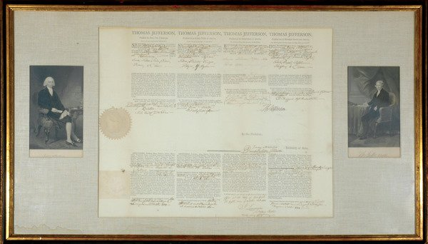 2008: JEFFERSON, THOMAS Document signed (
