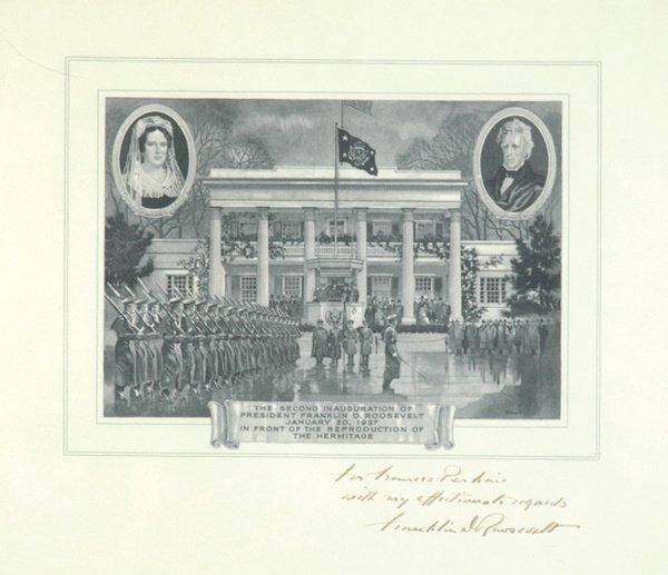 2011: Roosevelt, Franklin D. Print of Second Inaugurati