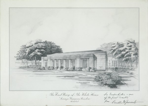 2015: ROOSEVELT, FRANKLIN DELANO Print of the East Wing