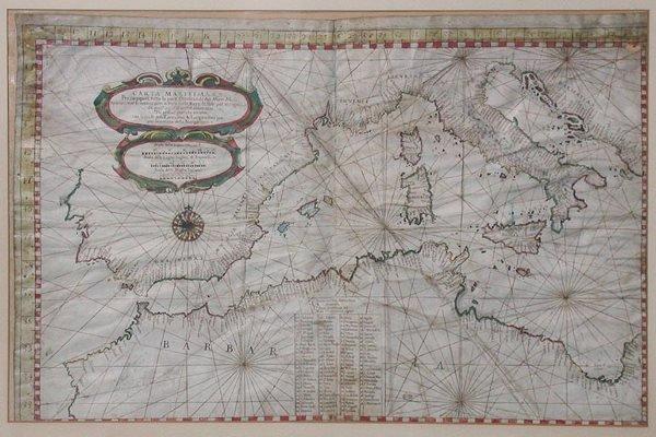 2116: [MAP] Carta Maritimae Per Nauigare Tutta la Parte