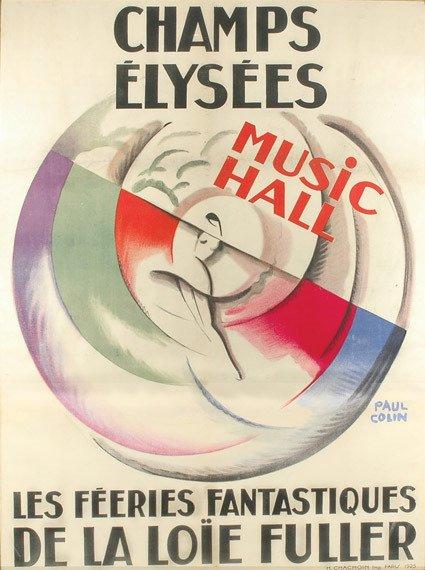 2314: Paul Colin CHAMPS ELYSEES, LA LOIE FULLER Color l