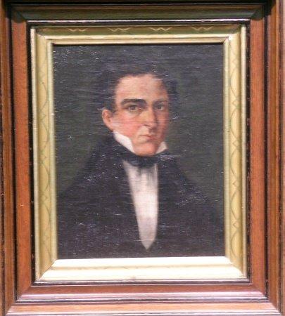 3014: American School Mid 19th century PORTRAIT OF A GE