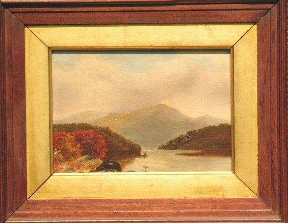 3016: American School 19th Century MOUNTAIN LAKE