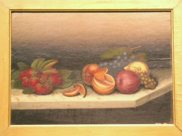 3021: American School 19th century FOLK ART STILL LIFES