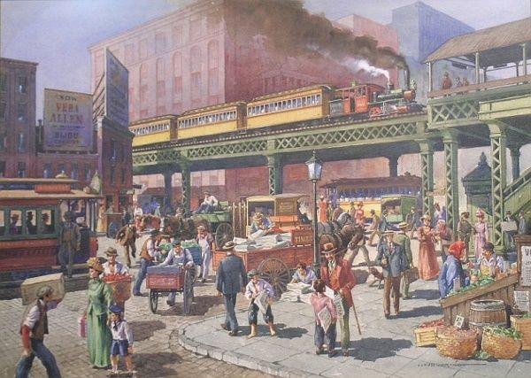 Lloyd Harting American, 1901-1974 BUSTLING NEW YO