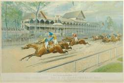 3118 Currier  Ives publishers THE FUTURITY RACE AT S