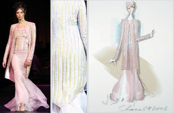 1: Karl Lagerfeld for Chanel Couture Embroidered Coat a