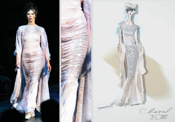 2: Karl Lagerfeld for Chanel Couture Embroidered Silk C