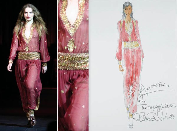 3: Galliano for Dior Couture Embroidered Harem Ensemble