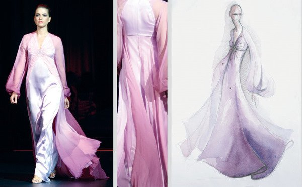 8: Sirop Pink Ombre Embroidered Gown