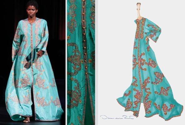 20: Oscar de la Renta Embroidered Abaya