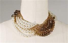 416 Coppola e Toppo Scalloped Faux Pearl Collar