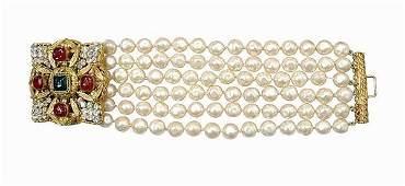 429 Gripoix for Chanel Byzantine Medallion Bracelet