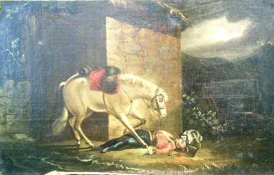 3009: British School 19th Century DEATH OF THE BUGLER