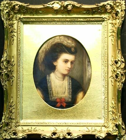 3010: British School 19th Century PORTRAIT OF A LADY WI