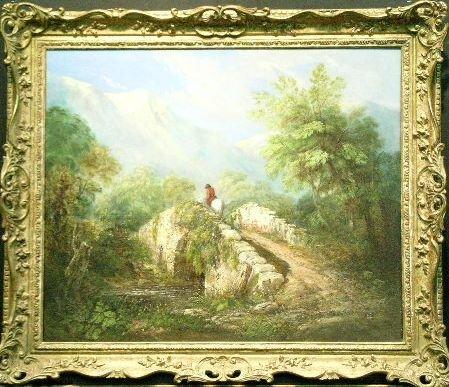 3011: British School 19th Century LANDSCAPE WITH TRAVEL