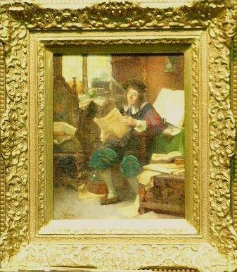 3017: Continental School 19th Century MAN READING