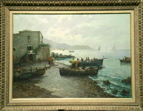 3018: Vincenzo D'Auria Italian, 1872-1939 FISHERMAN'S R