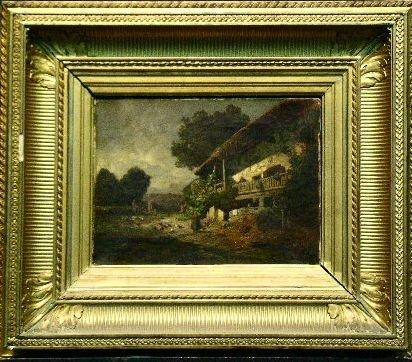 3019: Alexandre Defaux French, 1826-1900 FARMYARD