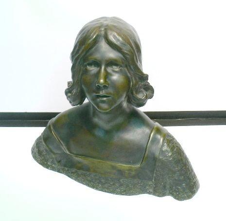 3020: Leon Noel Delagrange French, 1872-1910 BUST OF A
